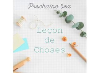 Box Leçon de choses - Prévente