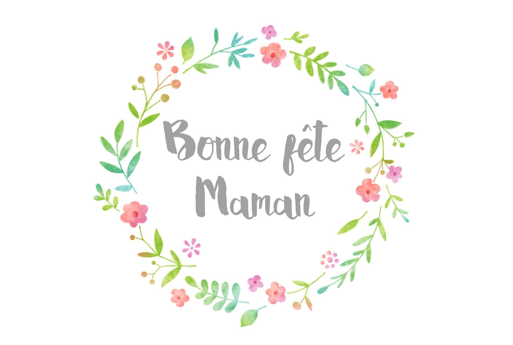 carte bonne fête maman Carte