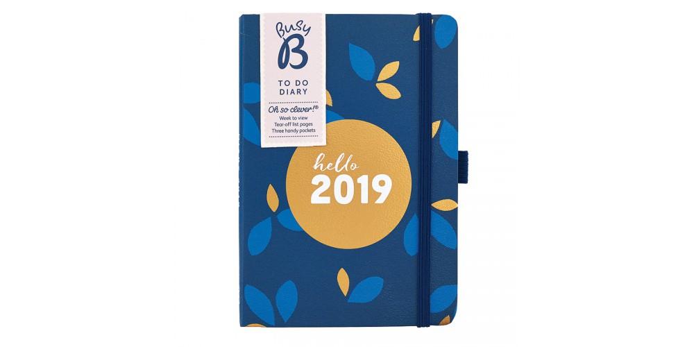 Agenda végétal bleu nuit 2019