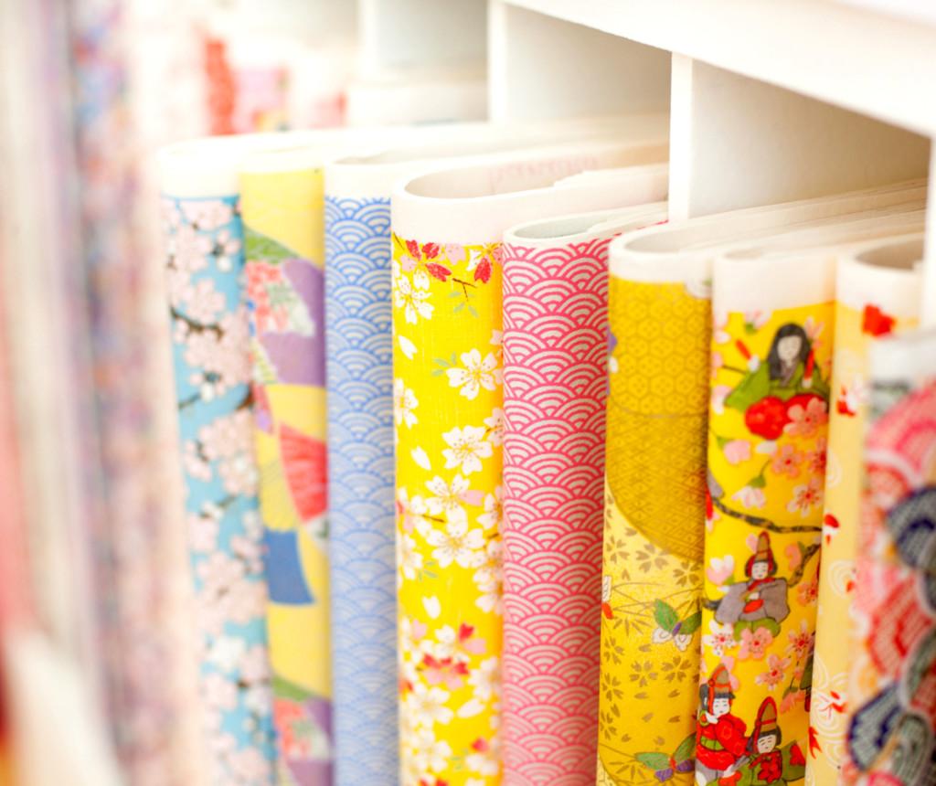 Les motifs traditionnels du papier japonais