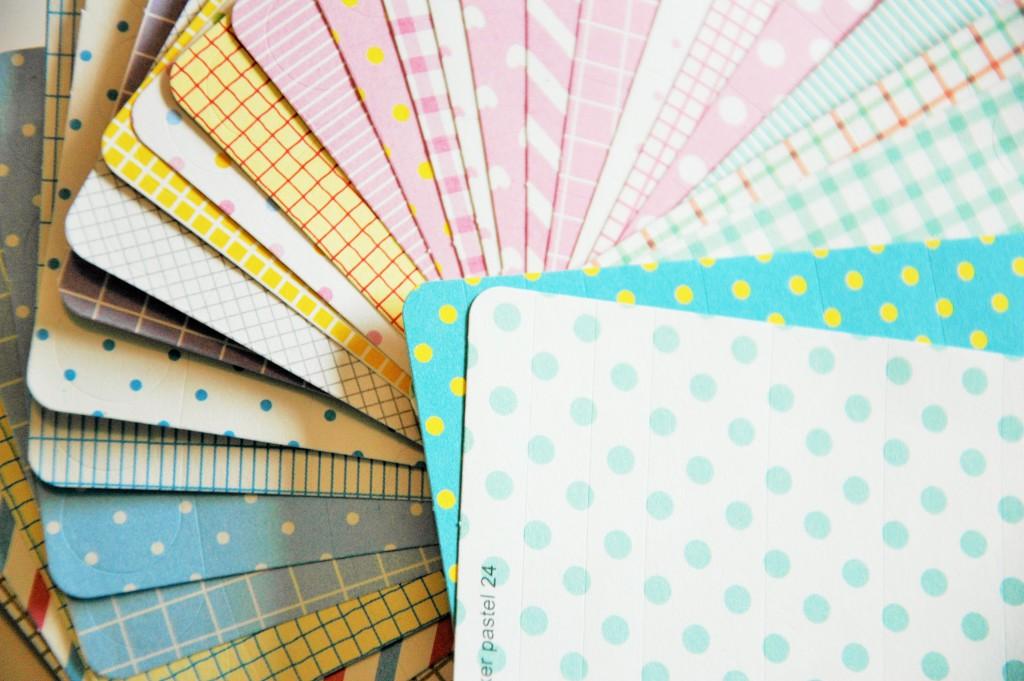 Pochette de masking tape motifs pastel