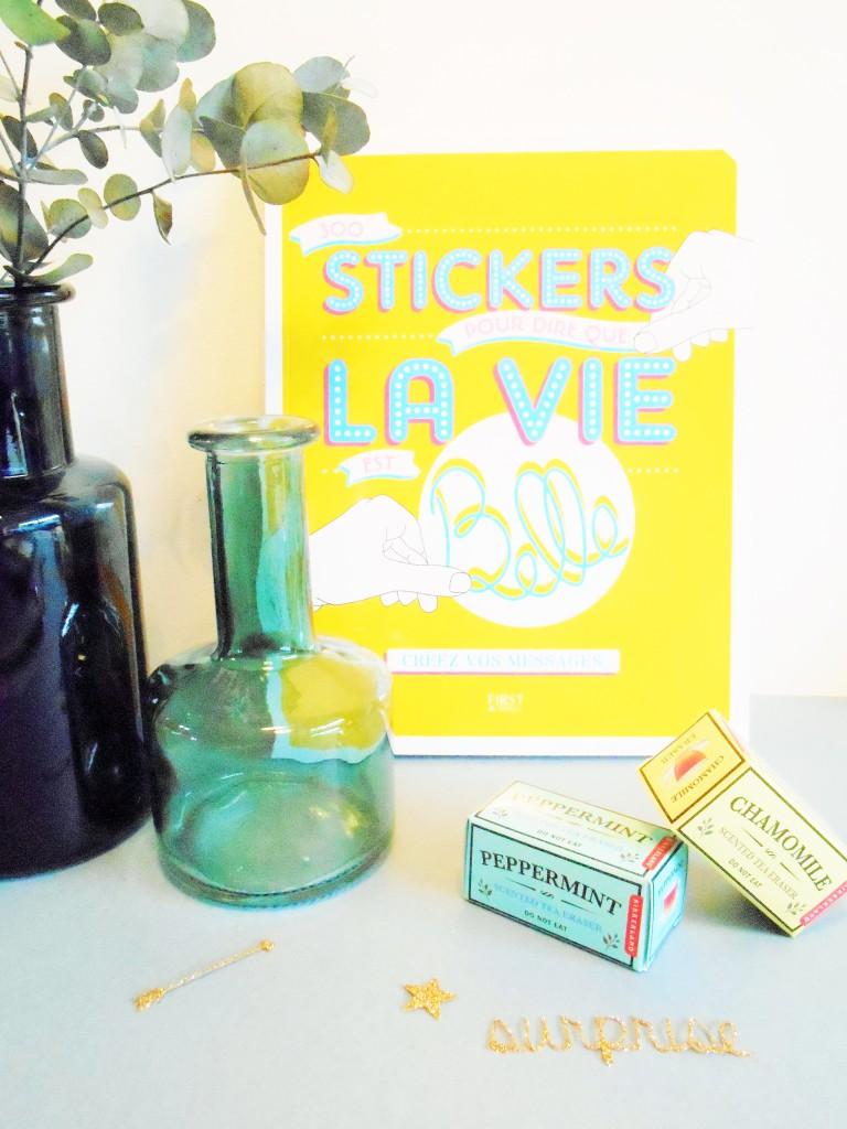 La vie est belle, stickers pour personnaliser cartes, carnets, paquets cadeaux First