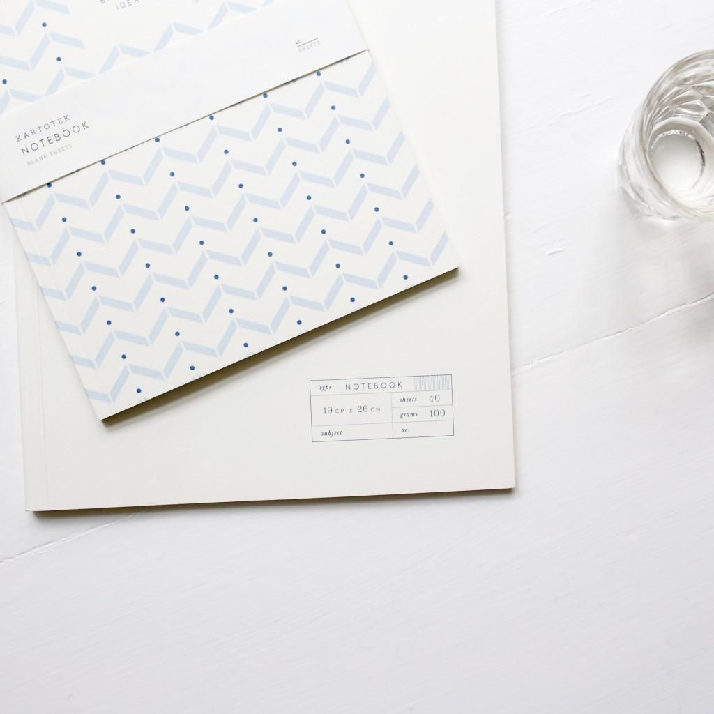 Le joli carnet scandinave de la box papeterie Saperlipapier