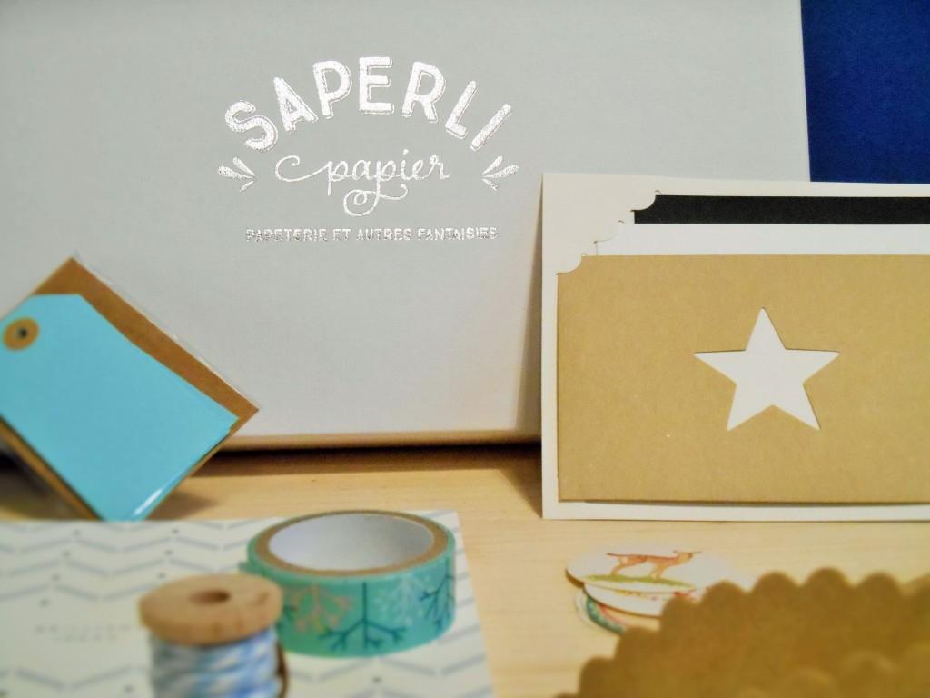 Box papeterie Noël Saperlipapier