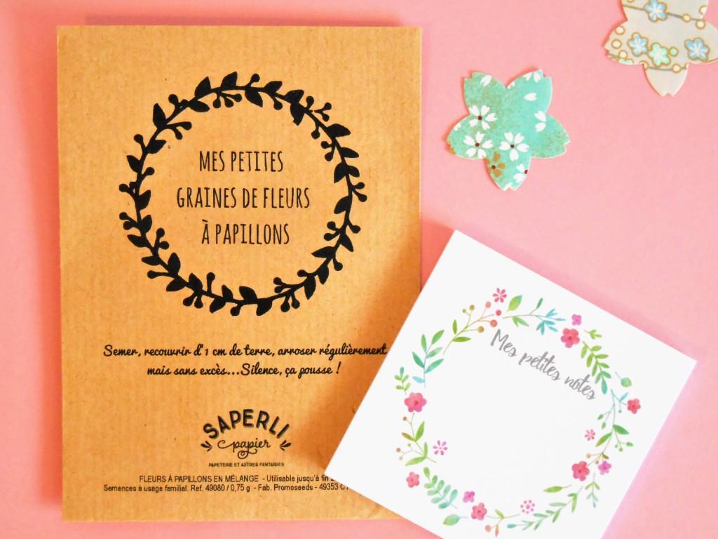 Fleurs deschamps dans un sachet vintage par Saperlipapier