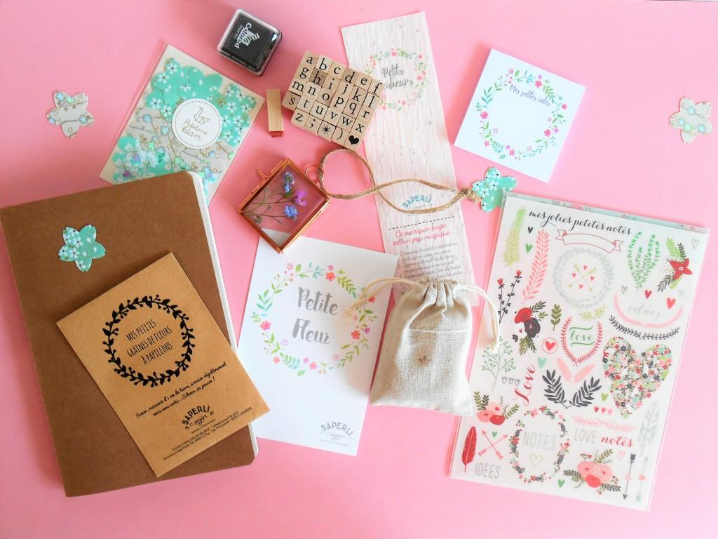 Papier japonais, petites graines, une box papier et créative pleine de poésie