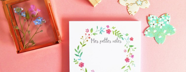Box papeterie petite fleur Saperlipapier & Adeline Klam