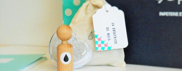 Tampon en bois motif kawaii