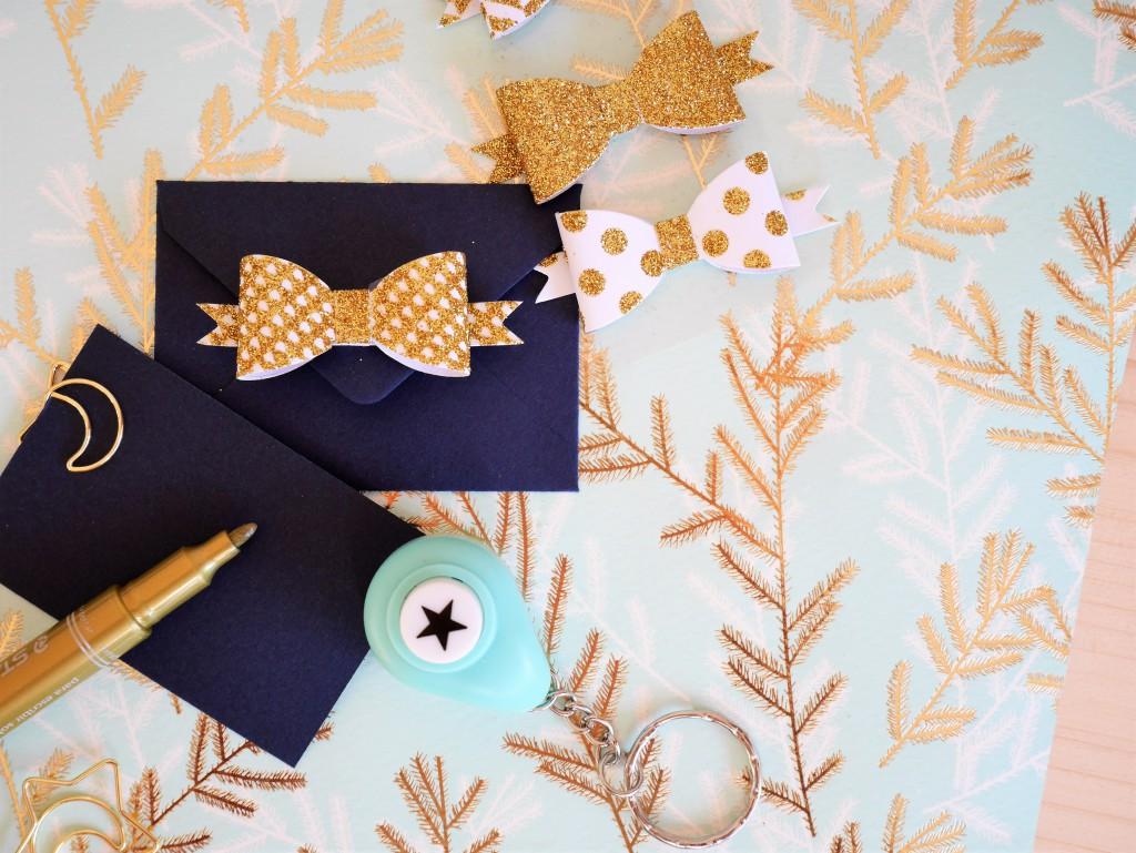 Mini enveloppes et Noeuds en papier Saperlipapier