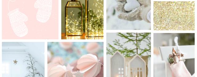 Mood board hiver, moufles, lanternes