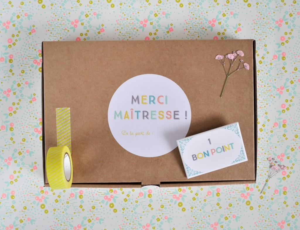 Une box a personnaliser pour le maître ou la maitresse ou la nounou par Saperlipapier