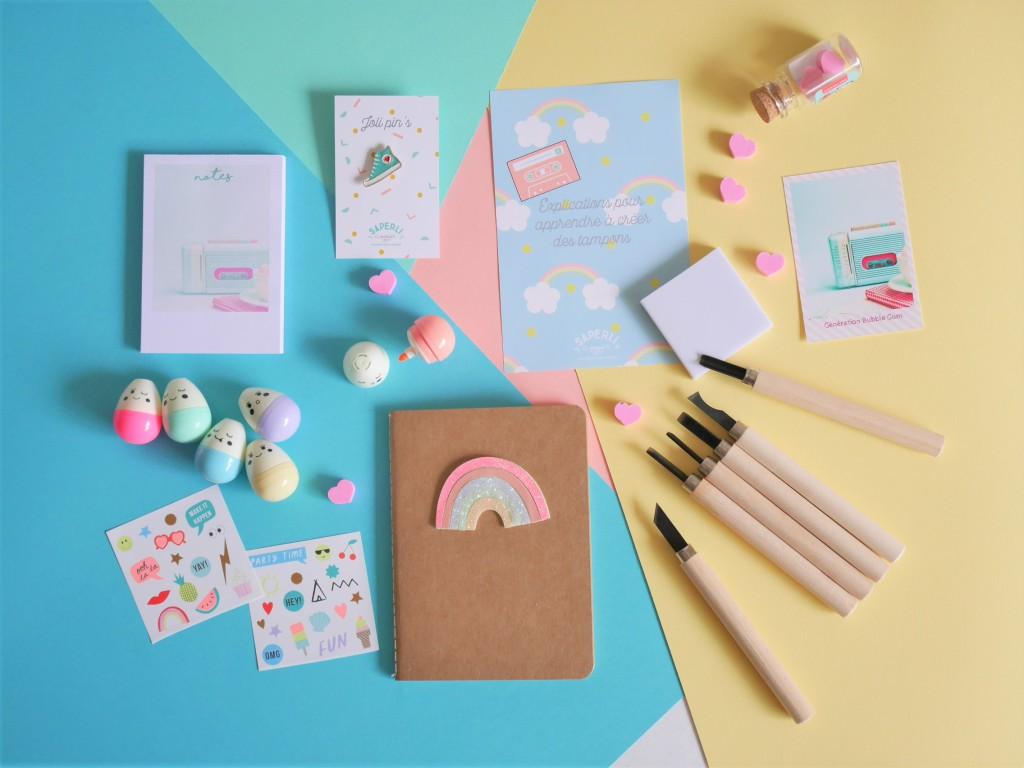 Carnet et accessoires pastel