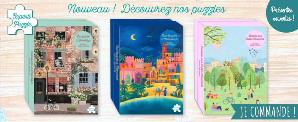 Des puzzles jolis illustrés made in France 1000 pieces