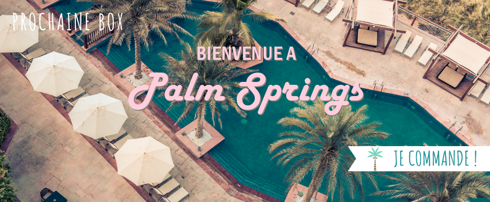 Coffret papeterie Palm Springs, rétro, pastel californie,