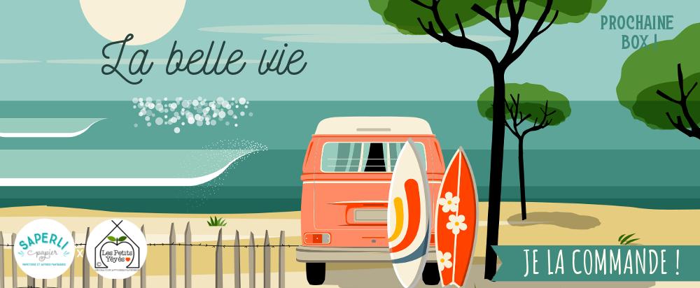 papeterie, van, plage, rêve, liberté, illustratrice française